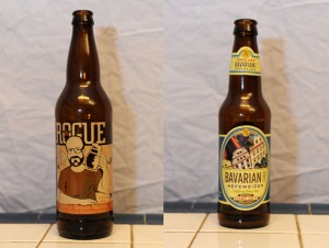 Rogue Hazelnut Brown Nectar and Trader Joe's Bavarian Style Hefeweizen