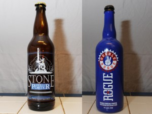 Stone Smoked Porter and Double Rogue Mocha Porter