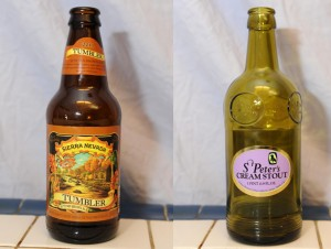 Sierra Nevada Tumbler Autumn Brown Ale and St Peter's Cream Stout