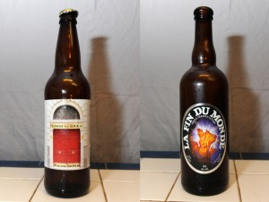 Hermitage Brewing's 1 Door Flemish Style Sour Ale and Unibroue's La Fin Du Monde