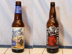 Hopper Whitman Belgian White and Stone Brewing Co. Double Bastard Ale