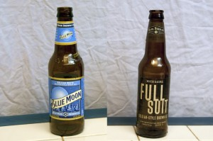 Blue Moon Belgian White and Karl Strauss Full Suit Belgian Brown Ale