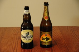 Hoegaarden Wit-Blanche and Leffe Blonde