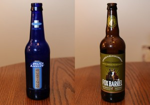 Bud Light Platinum and Fox Barrel Ginger & Blackcurrant