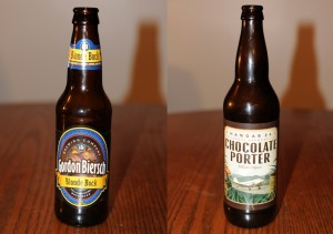 Gordon Biersch Brewing Co. Blonde Bock and Hangar 24 Craft Brewery's Chocolate Porter