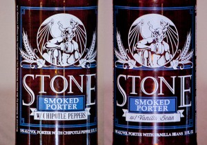 Stone Smoked Porter w/Chipotle Peppers and w/ Vanilla Beans