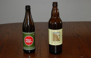Russian River Brewing's Pliny the Elder and Belmont Brewing's Long Beach Crude