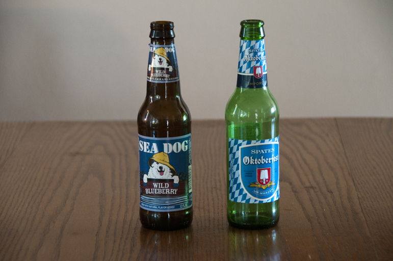 Sea Dog Brewing Co. Wild Blueberry Ale and Spaten Oktoberfest