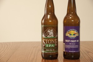 Stone Brewing Co. IPA and Green Flash Brewing Co. West Coast IPA