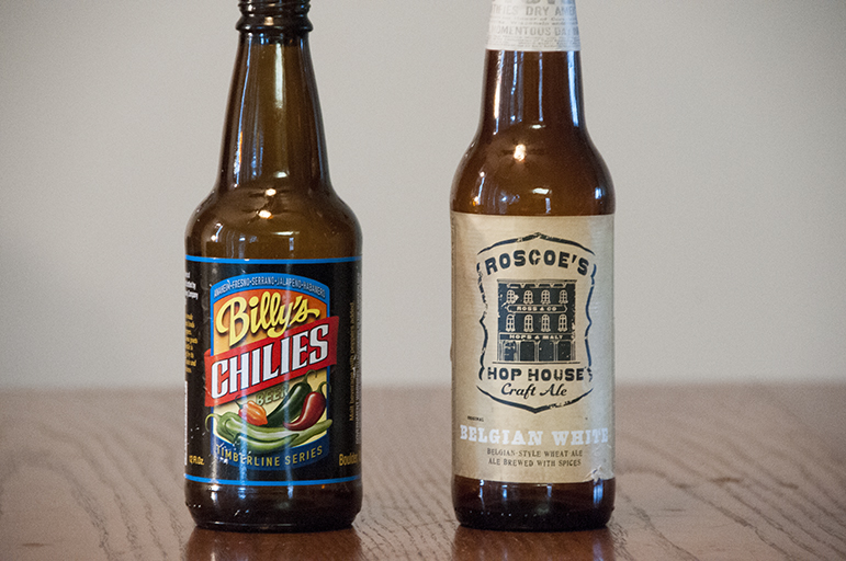 Twisted Pine Brewing Billy's Chillies and Roscoes Hop House Craft Ale Belgian White