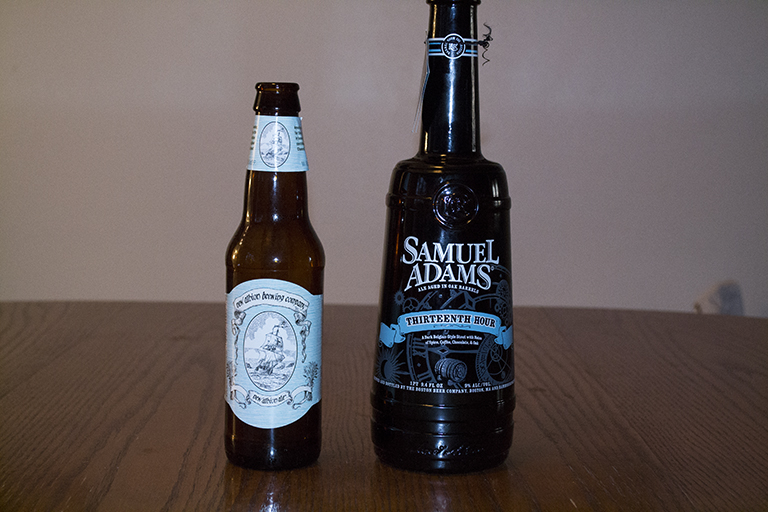 Samuel Adams New Albion Ale and Samuel Adams Thirteenth Hour Stout