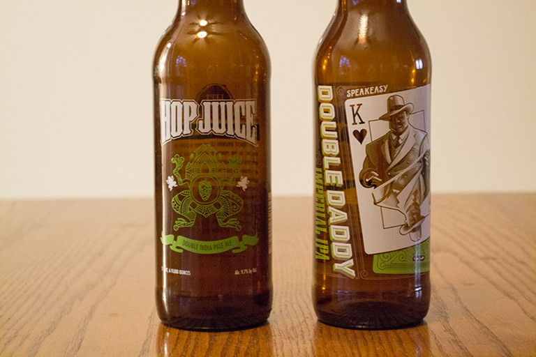 Left Coast Brewing Co. Hop Juice and Speakeasy Ales and Lagers Double Daddy
