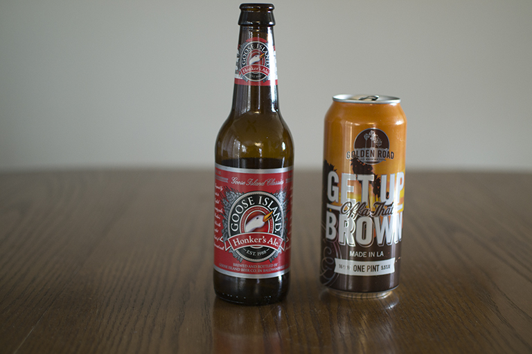 Goose Island Honker's Ale and Golden Road Brewing Get Up Offa That Brown