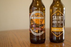 Tap It Brewing Co. Ale Camino and Saint Archer Brewing Company Blonde Ale