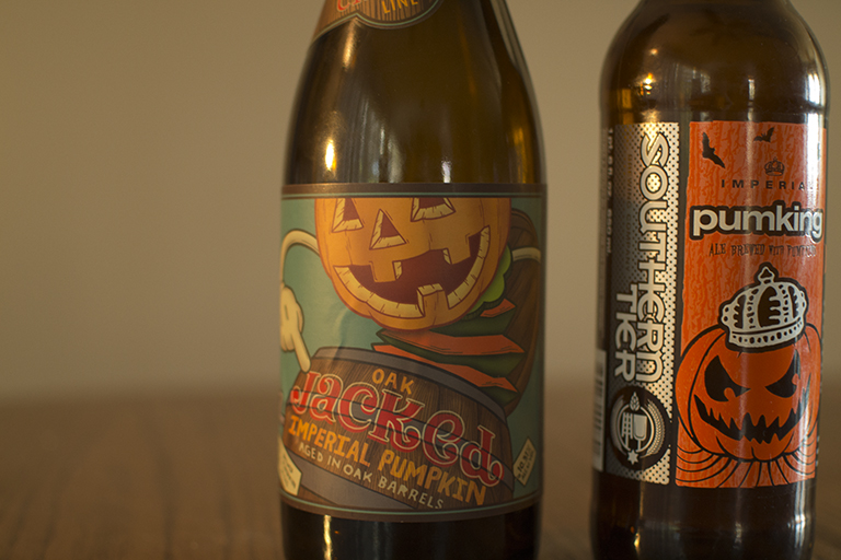 Uinta Brewing Oak Jacked Imperial Pumpkin and Southern Tier Brewing Company Pumpking