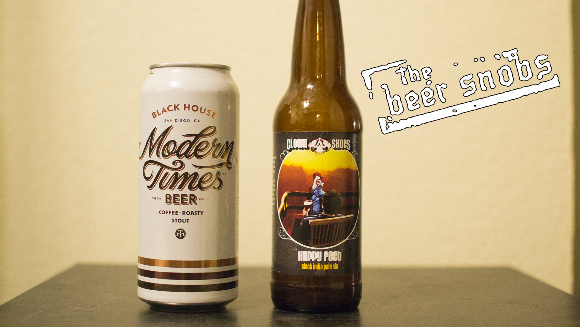 Modern Times Beer Black House and Clown Shoes Hoppy Feet