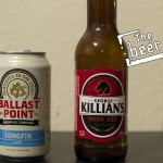 Ballast Point Brewing Company Longfin Lager and George Killian's Irish Red