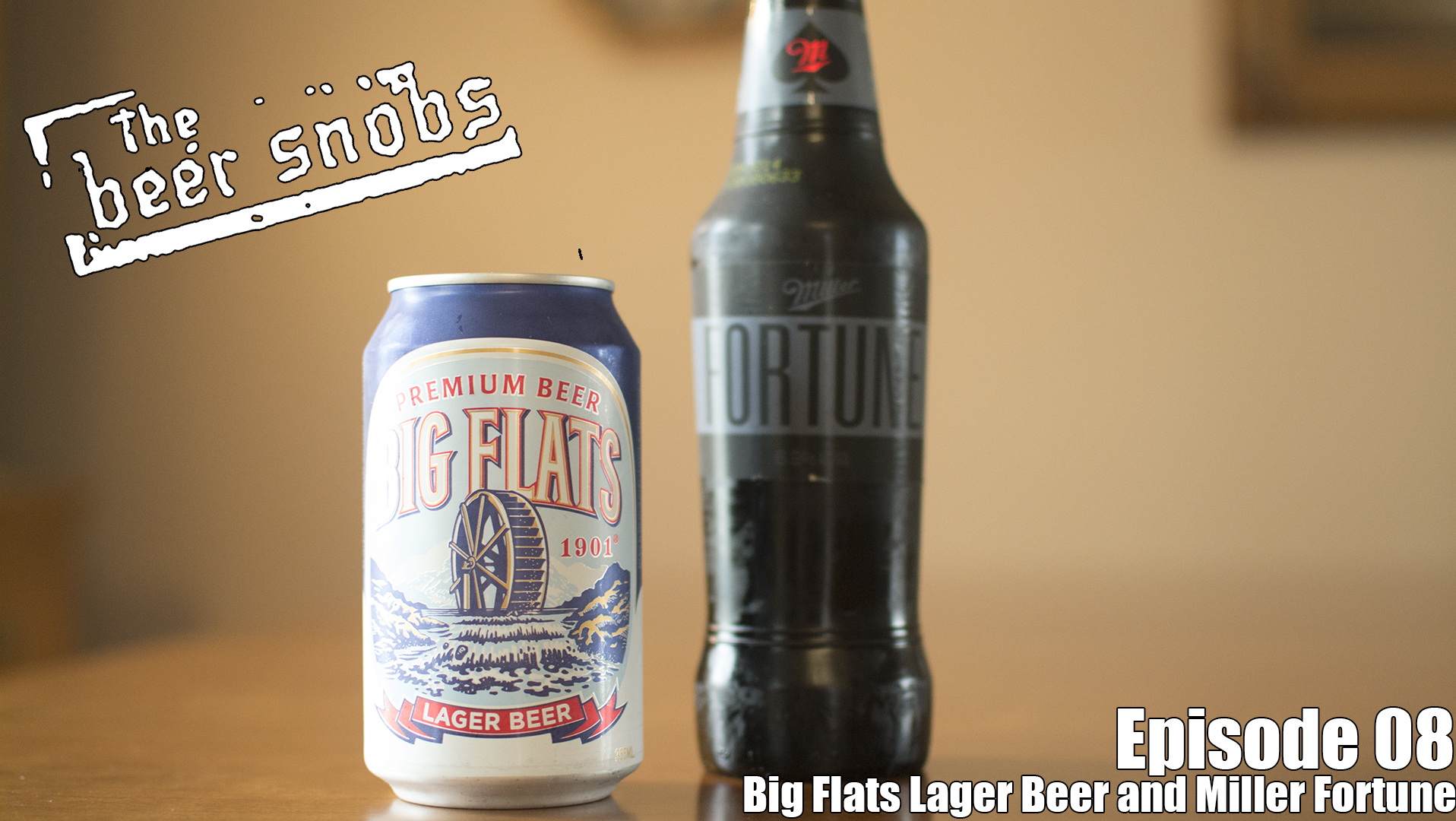 On this episode the snobs discuss the best beers they could find at concerts. They then blind reviewed Big Flats Lager Beer and Miller Fortune.
