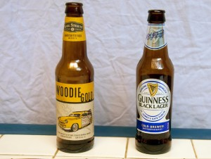 Karl Strauss Woodie Gold and Guinness Black Lager
