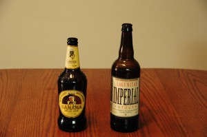 Wells Banana Bread Beer and Lagunitas Imperial Stout