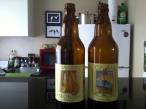 Belmont Brewing Co Strawberry Blonde and Top Sail