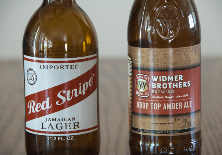 Red Stripe Jamaican Lager and Widmer Brothers Brewing Drop Top Amber