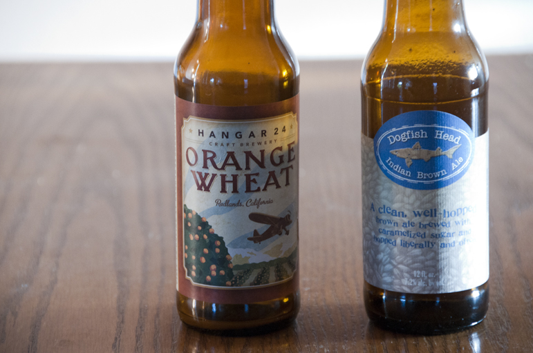 Hanger 24 Orange Wheat and Dogfish Head Indian Brown Ale