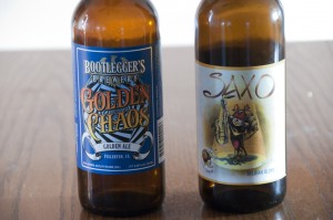 Bootleggers Brewery Golden Chaos and Caracole Saxo
