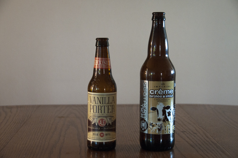 Breckenridge Brewery Vanilla Porter and Southern Tier Brewing Company Creme Brûlée Stout
