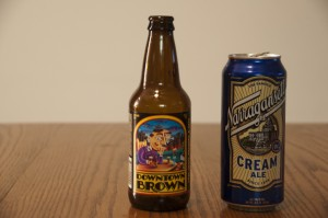 Lost Coast Brewery Downtown Brown and Narragansett Cream Ale