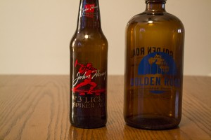Cold Spring Brewing Co. John Henry 3 Lick Spiker Ale and Golden Road Brewing It's Not Always Sunny In LA