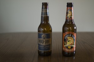 Third Shift Amber Lager and Shock Top Belgian White