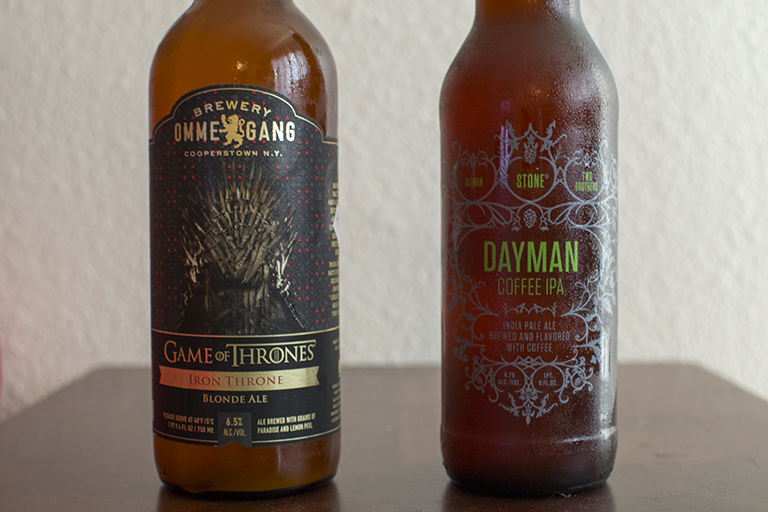 Brewery Ommegang Iron Throne and Aleman/Two Brothers/Stone Dayman Coffee IPA