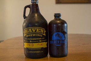 Haven Brewing P.E.D. and Golden Road Brewing Mildly Handsome