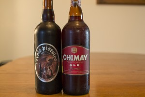 Unibroue Trois Pistoles and Chimay Premiere