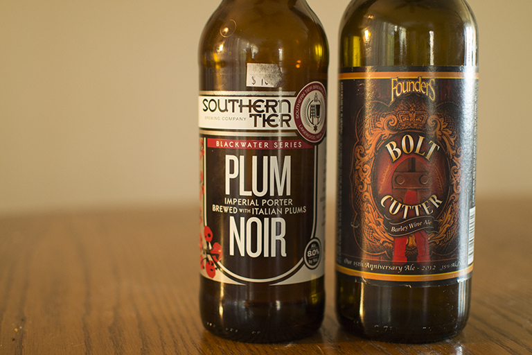 Souther Tier Brewing Company Plum Noir and Founders Brewing Co. Bolt Cutter