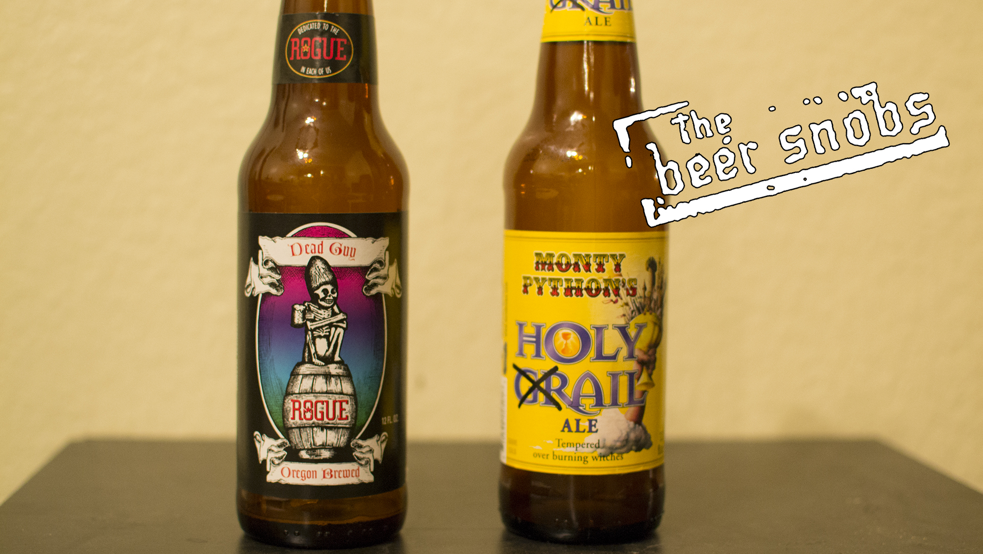 Rogue Ales Dead Guy Ale and Black Sheep Brewery Holy Grail Ale