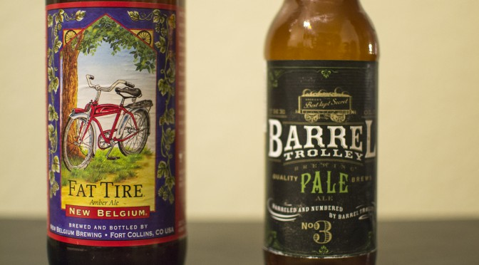 New Belgium Fat Tire and Barrel Trolley Brewing Pale Ale